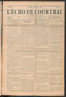 L'echo De Courtrai 1911-09-17