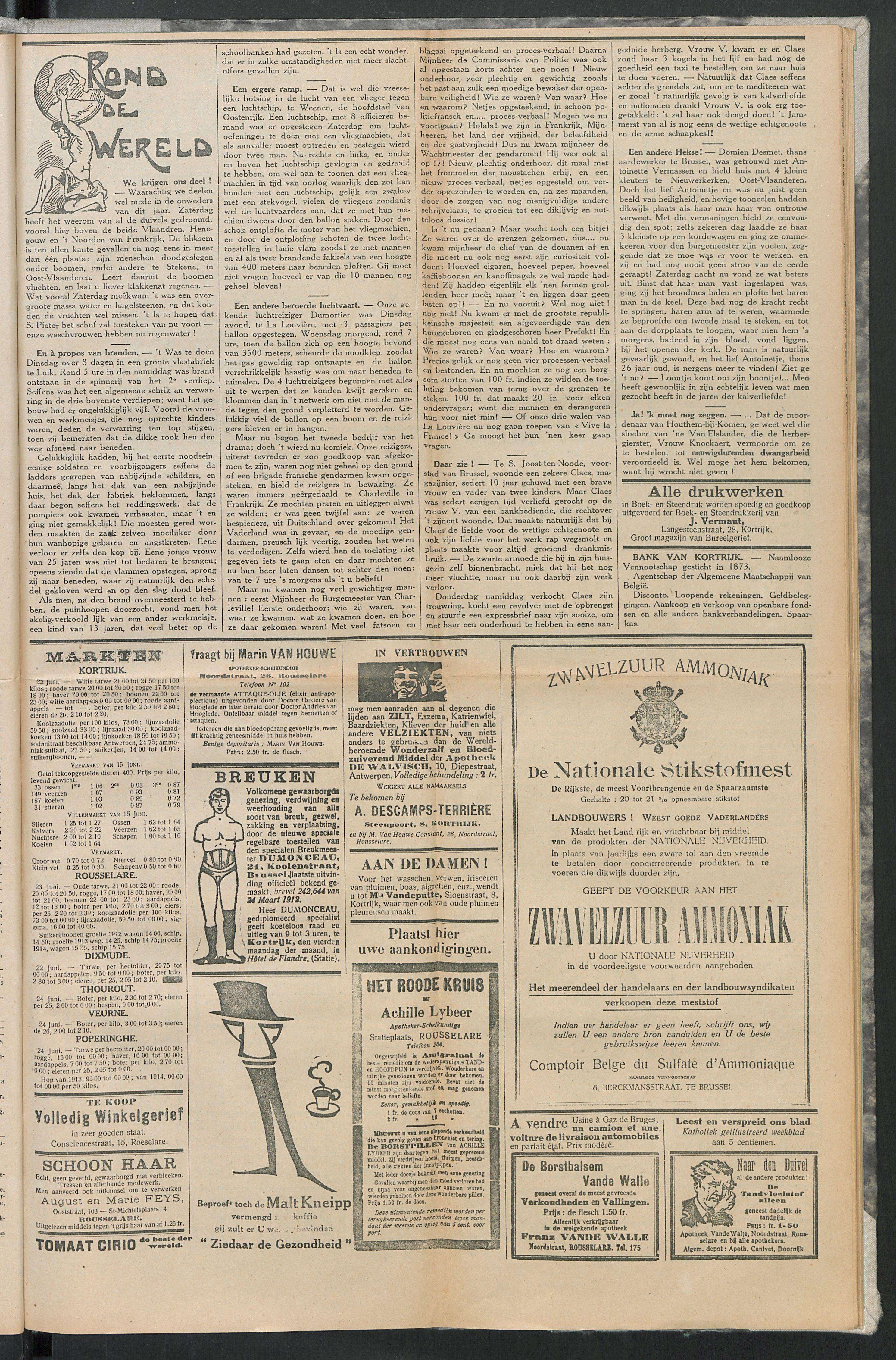 Het Kortrijksche Volk 1914-06-28 p5