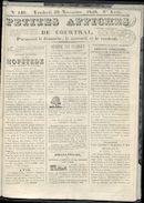 Petites Affiches De Courtrai 1840-11-20