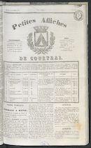 Petites Affiches De Courtrai 1837-10-05