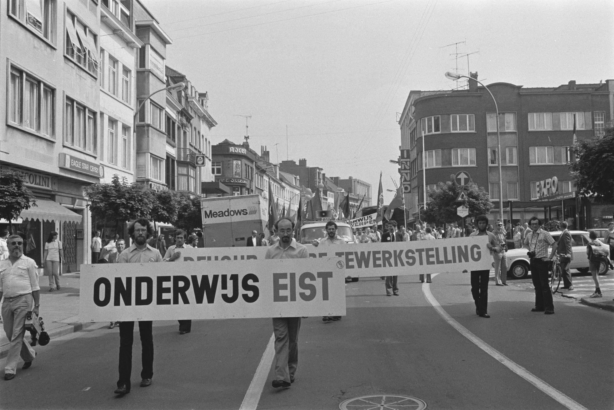 Betoging onderwijs 1980