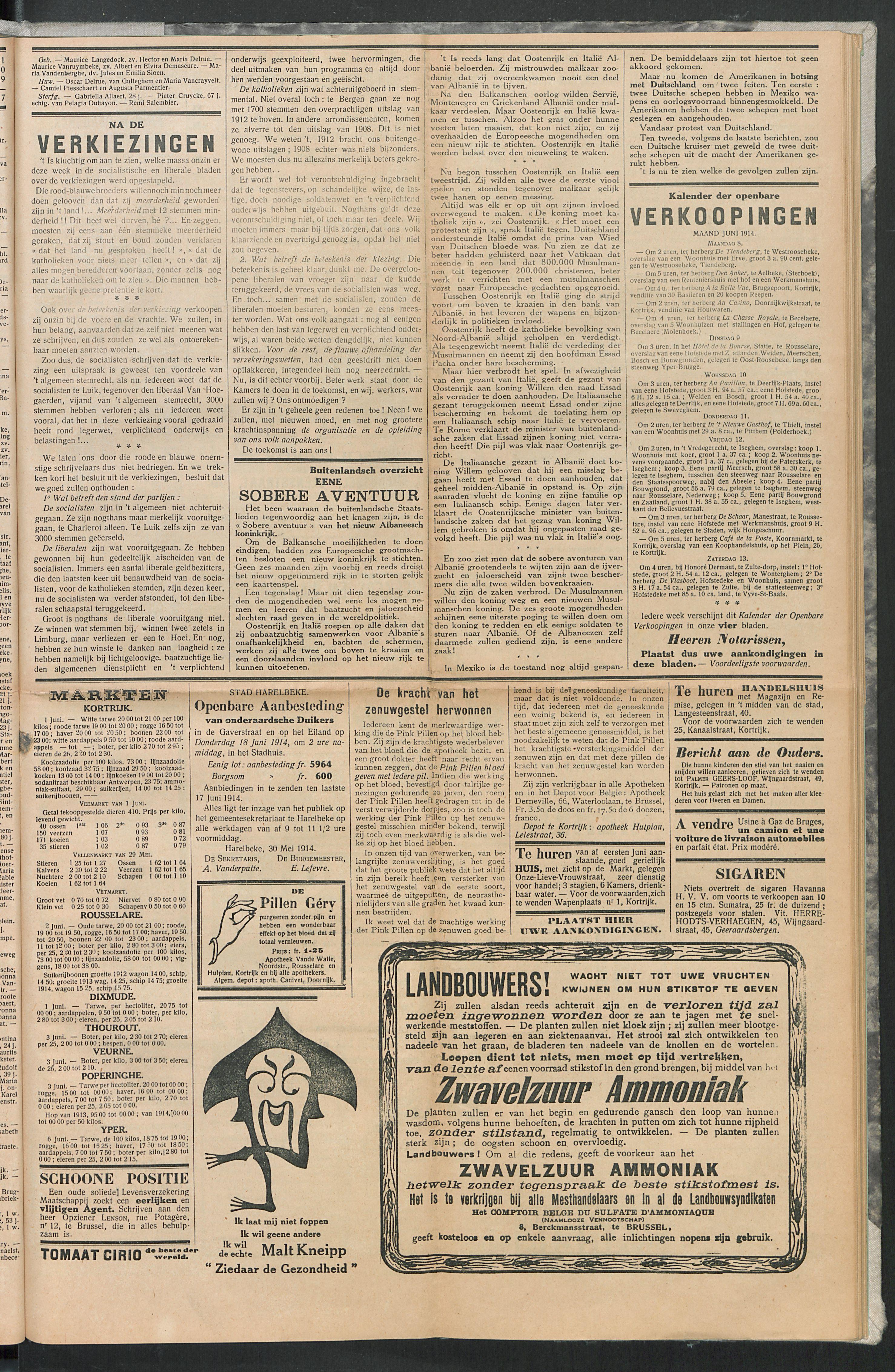 Het Kortrijksche Volk 1914-06-07 p5