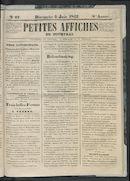 Petites Affiches De Courtrai 1842-06-05