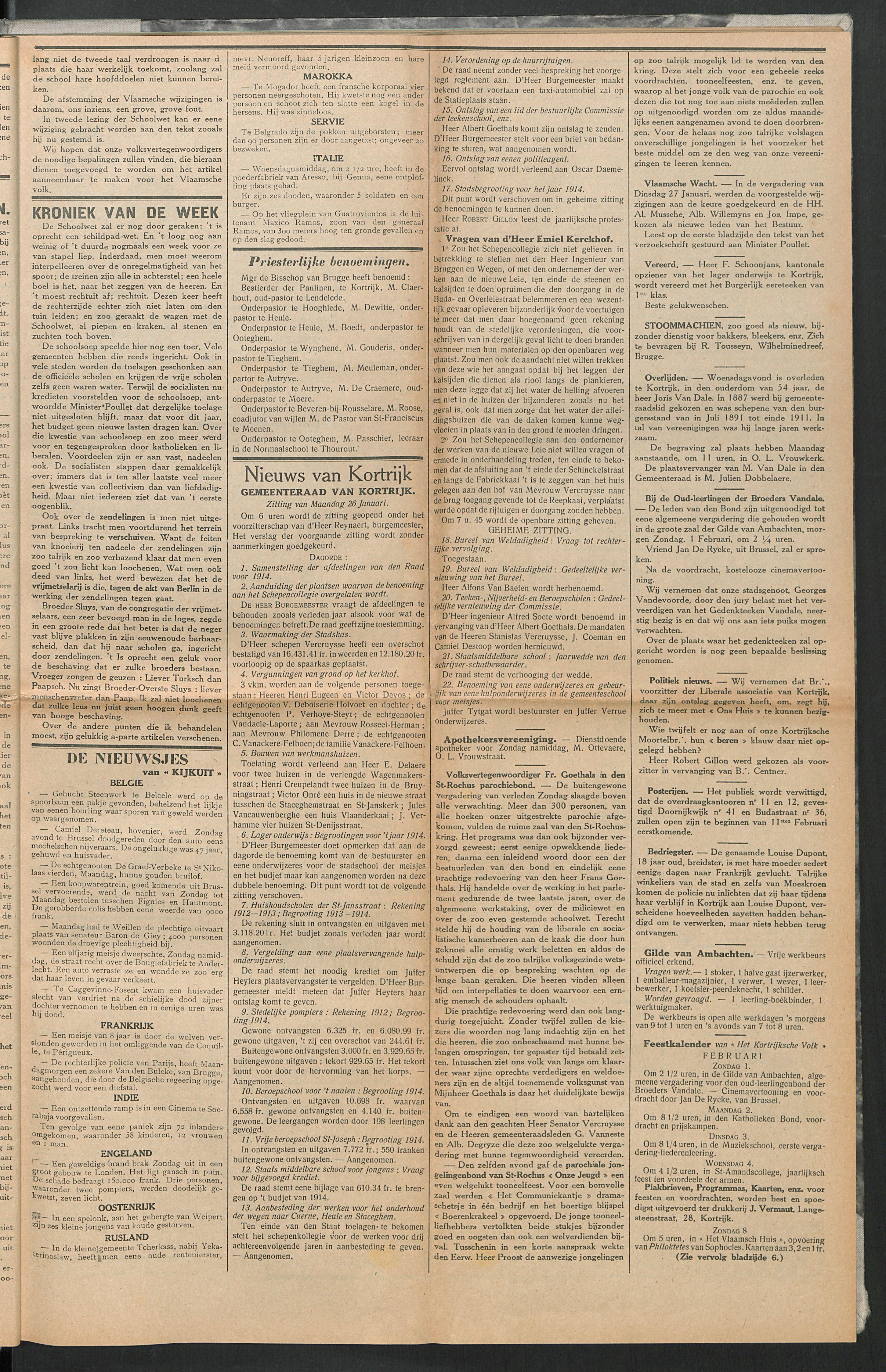 Het Kortrijksche Volk 1914-02-01 p3