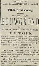 Publieke Verkooping BOUWGROND