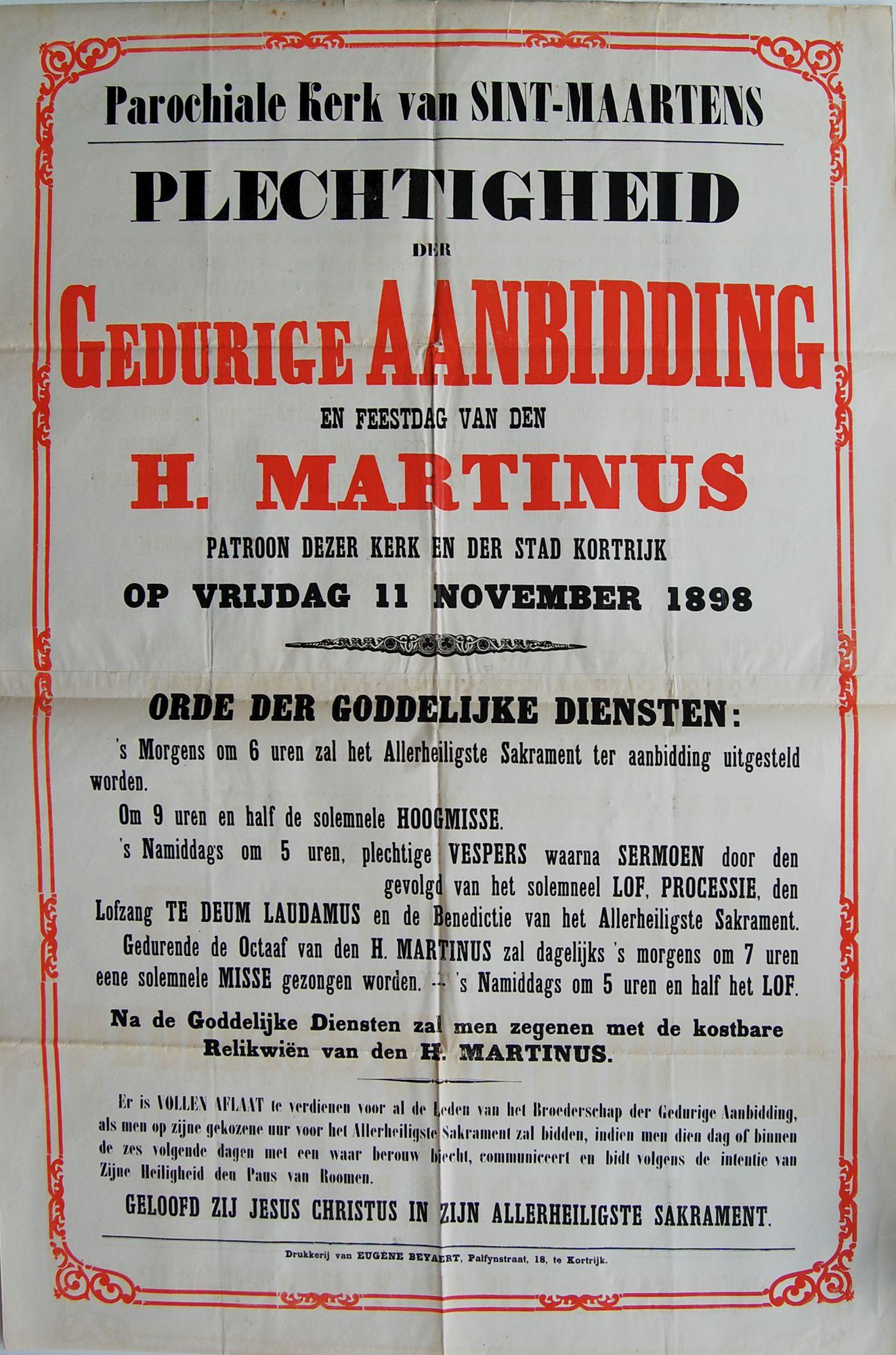 Plechtigheid Sint-Maartenskerk in 1898