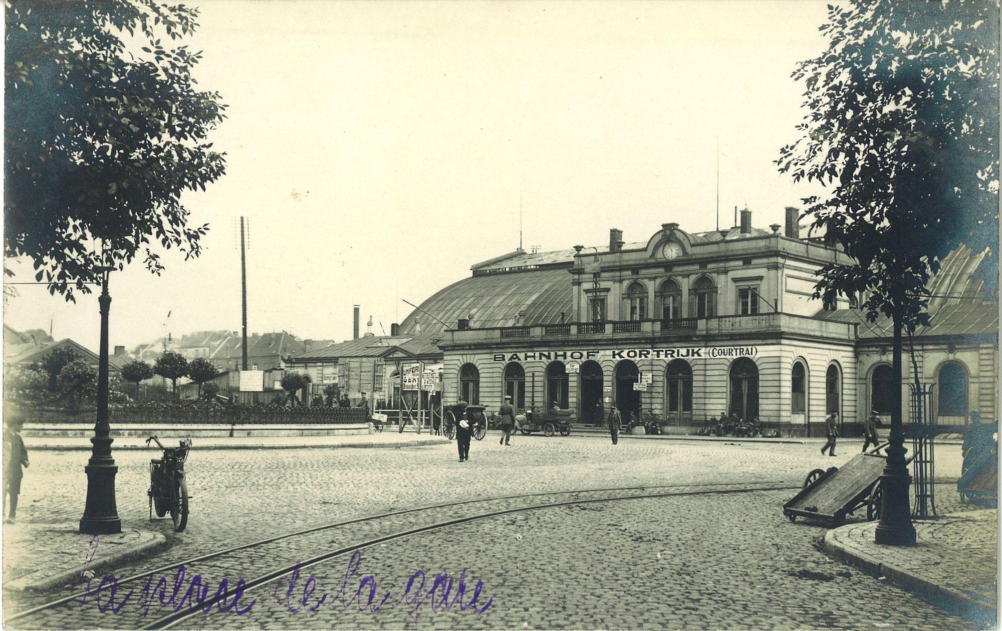 Station tijdens Wereldoorlog I