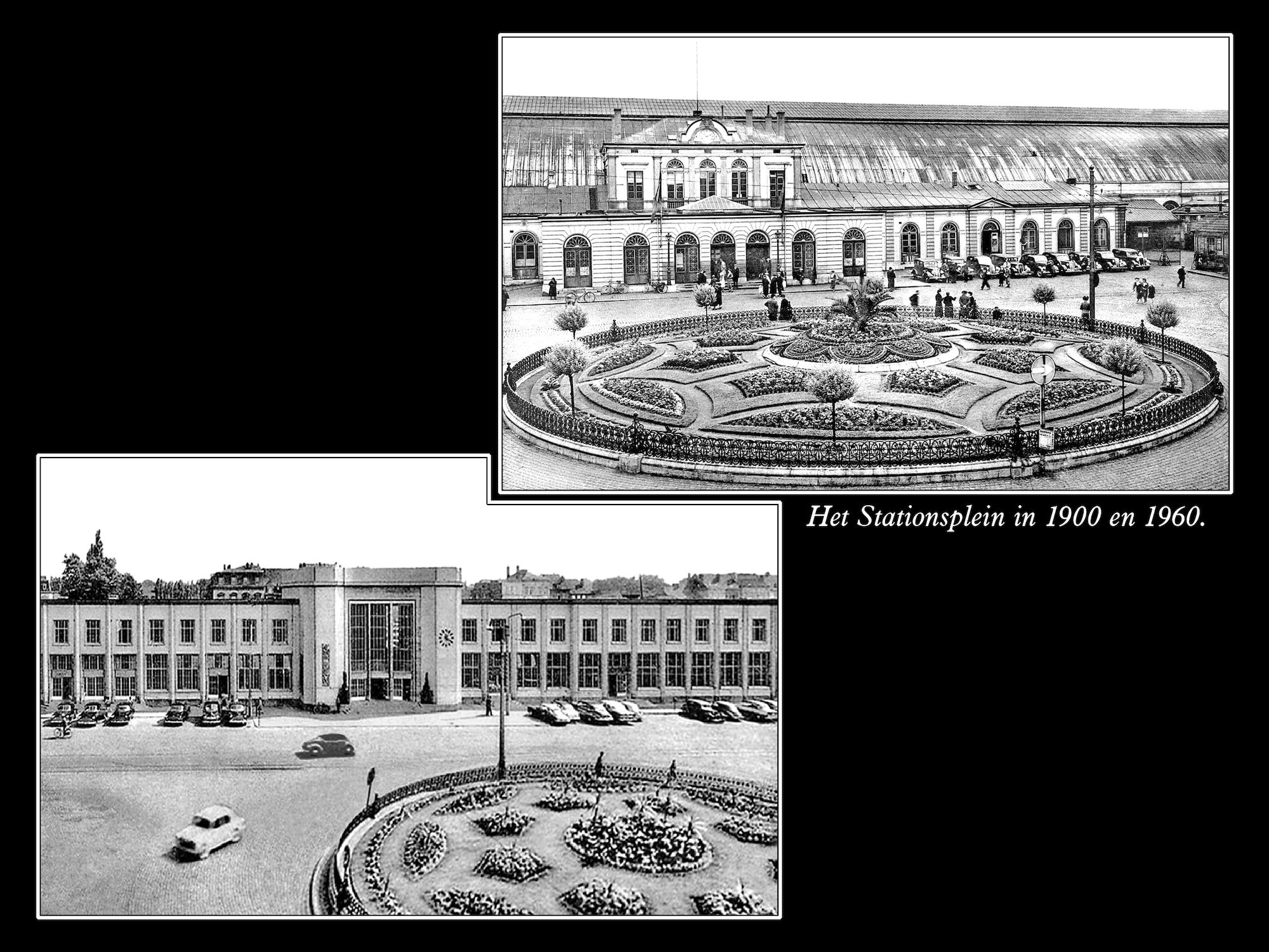 Stationsplein 1900 en 1960