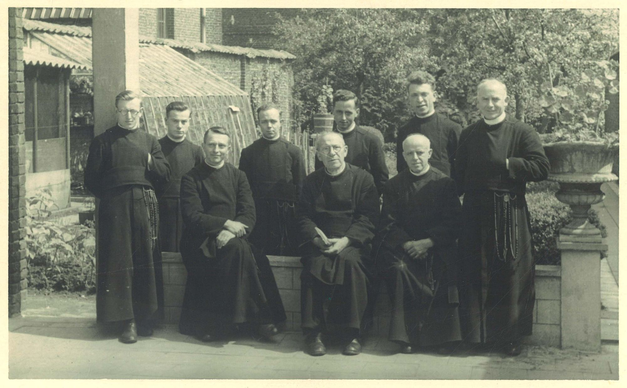 Groepsfoto broeders van de Broederschool Overleie