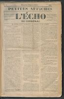 L'echo De Courtrai 1849-01-07 p1