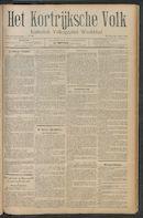 Het Kortrijksche Volk 1911-06-25 p1