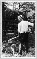 Westflandrica - Stijn Streuvels aan het werk in de tuin