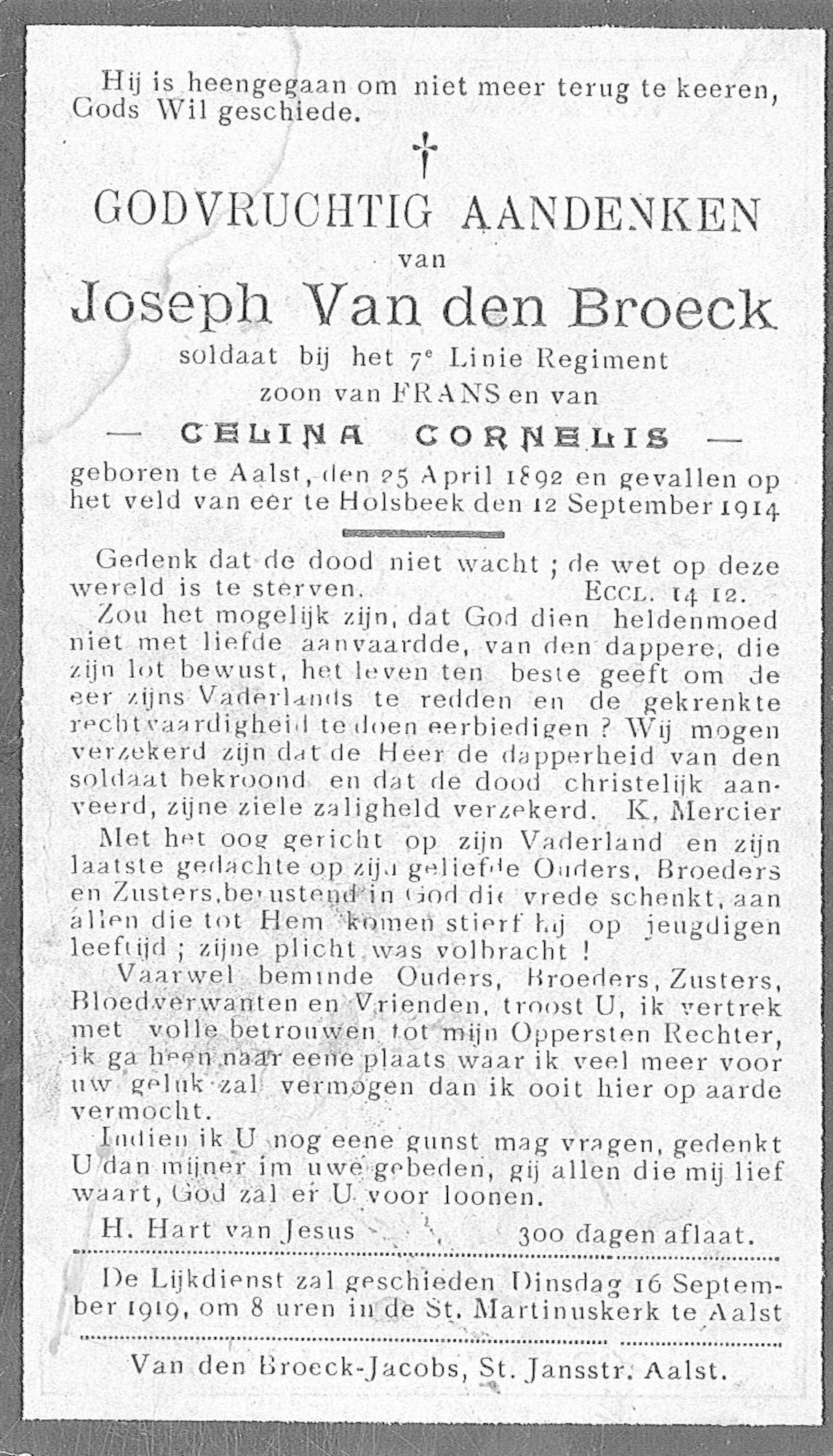 Joseph Van den Broeck