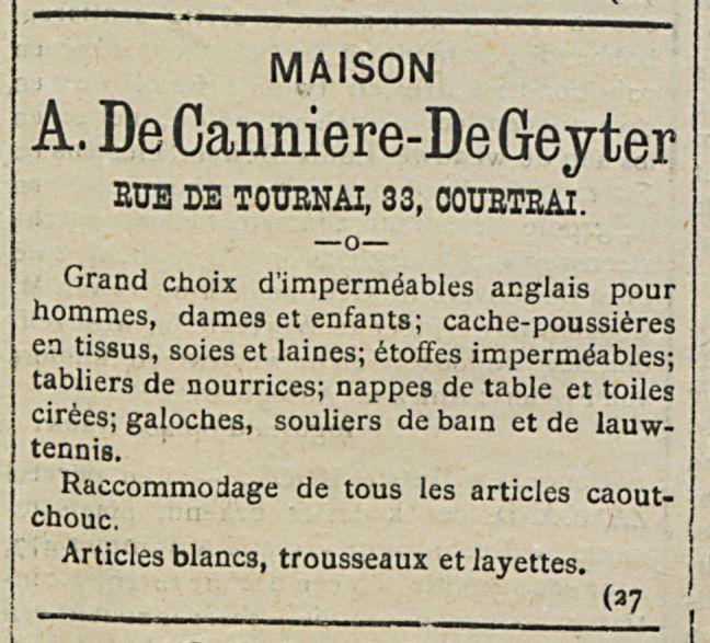 A. De Canniere-De Geyter