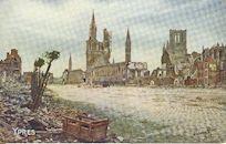 Westflandrica - de Markt van Ieper in puin