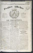 Petites Affiches De Courtrai 1837-08-27