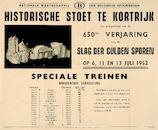 Uurregeling NMBS voor feestelijkheden 1952