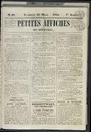 Petites Affiches De Courtrai 1841-03-12