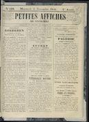 Petites Affiches De Courtrai 1841-11-05