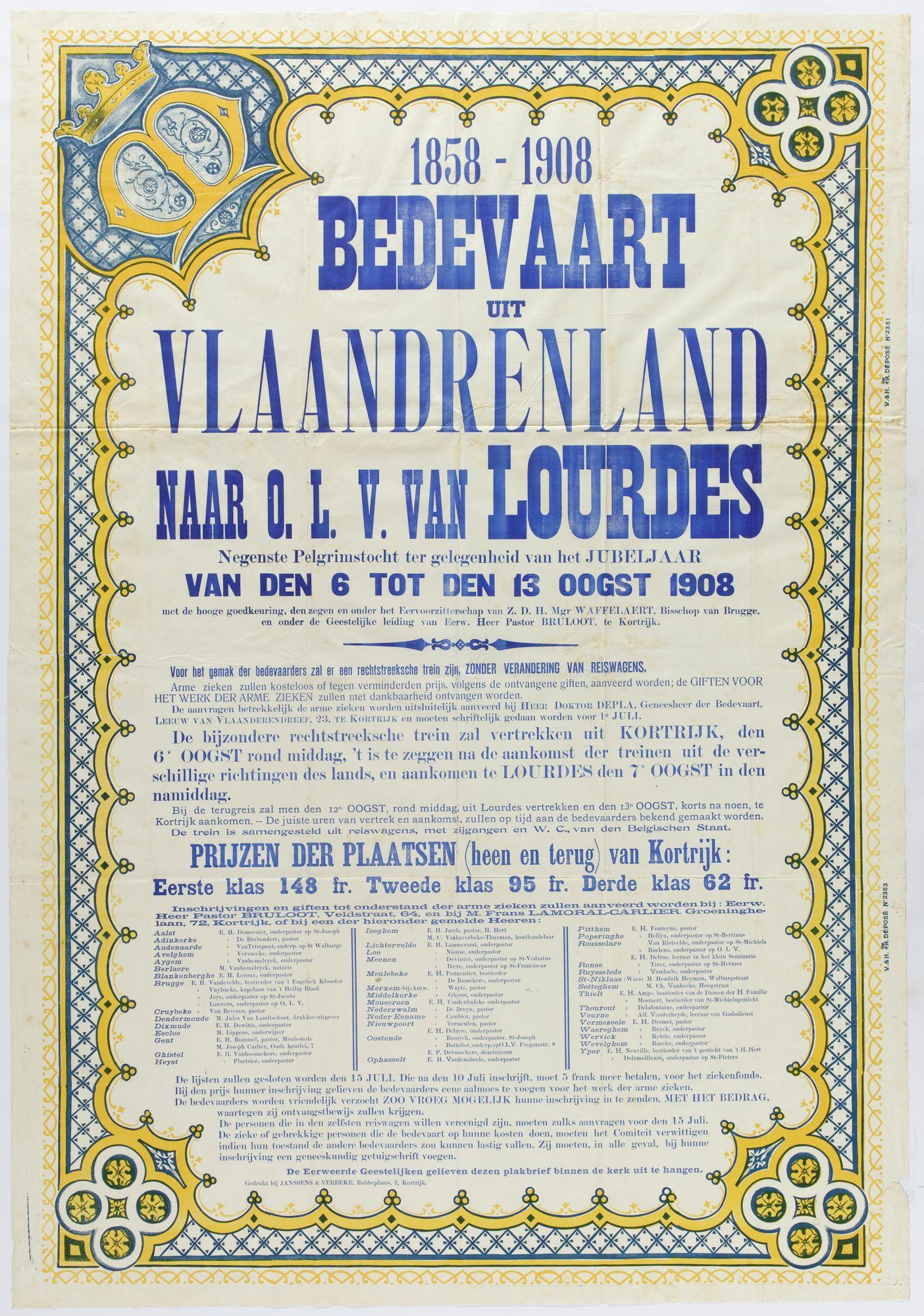 Bedevaart Lourdes1908