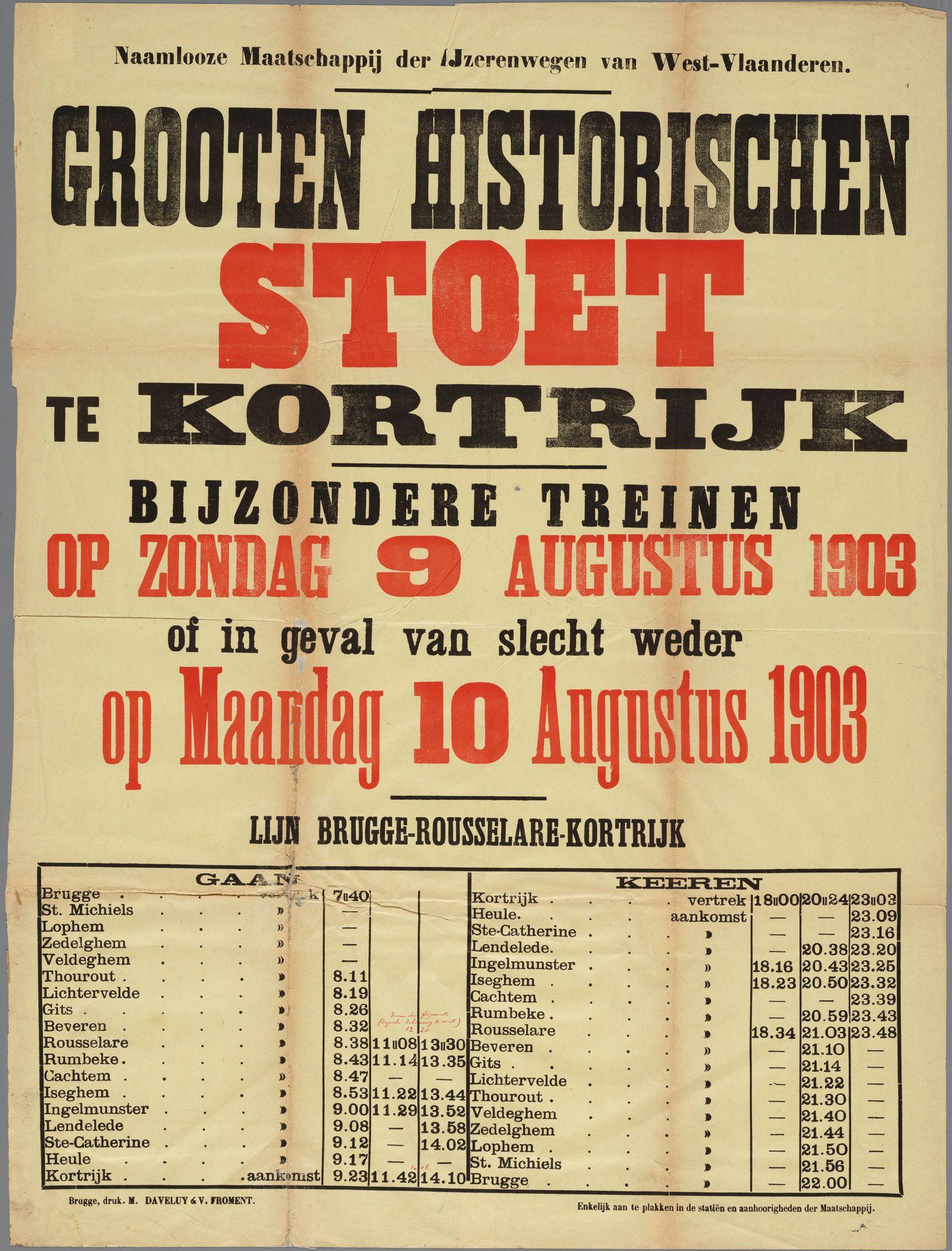 Historische stoet 1903