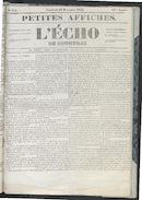 L'echo De Courtrai 1852-12-10