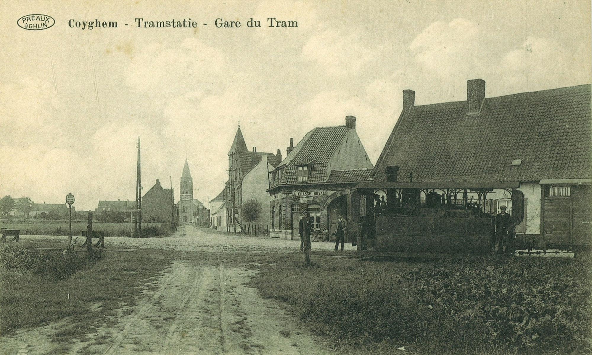 Tramstatie in Kooigem
