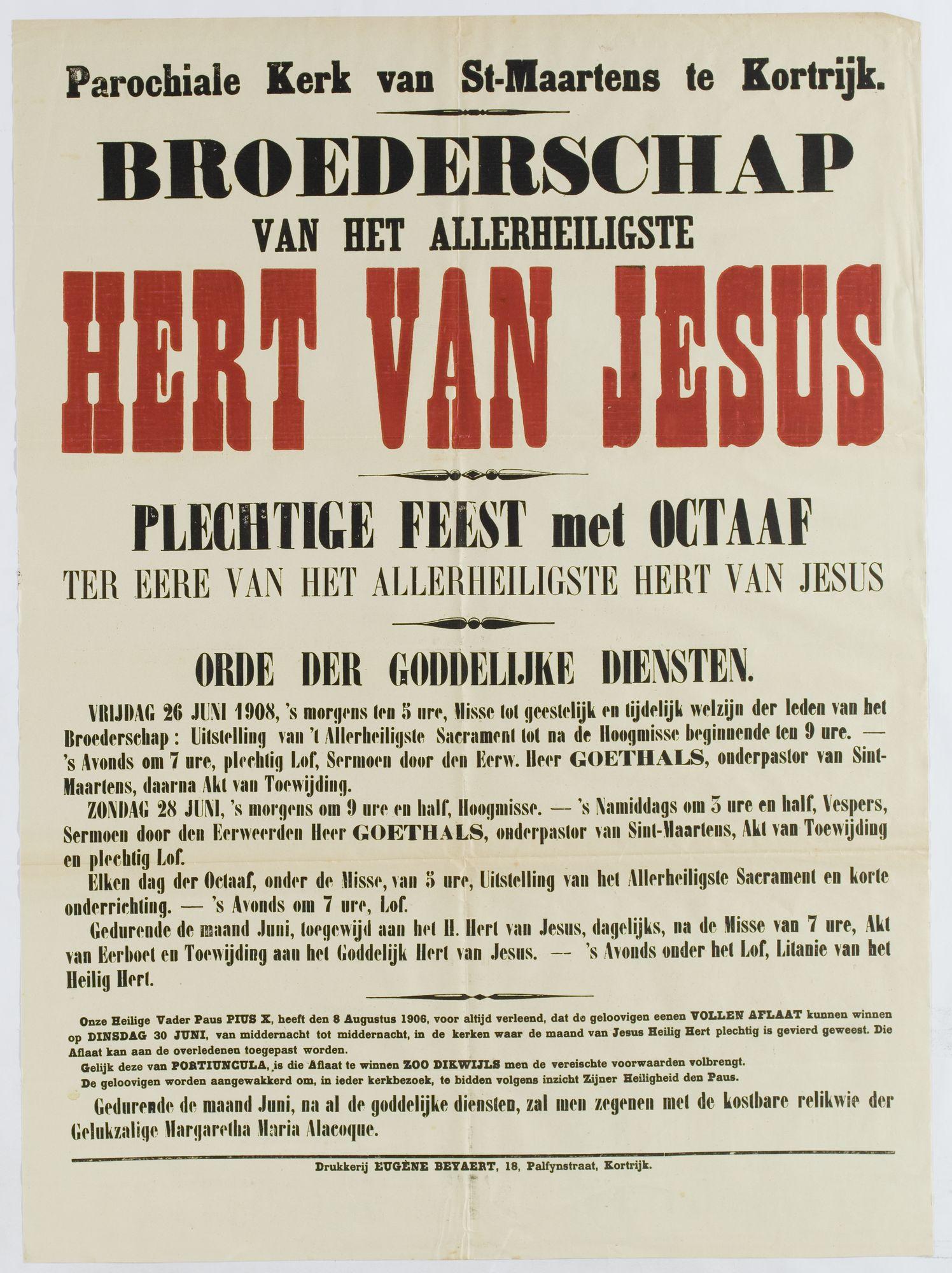 Plechtigheden Sint Maartenskerk 1908