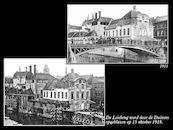 Leiebrug in 1911 en 1918.