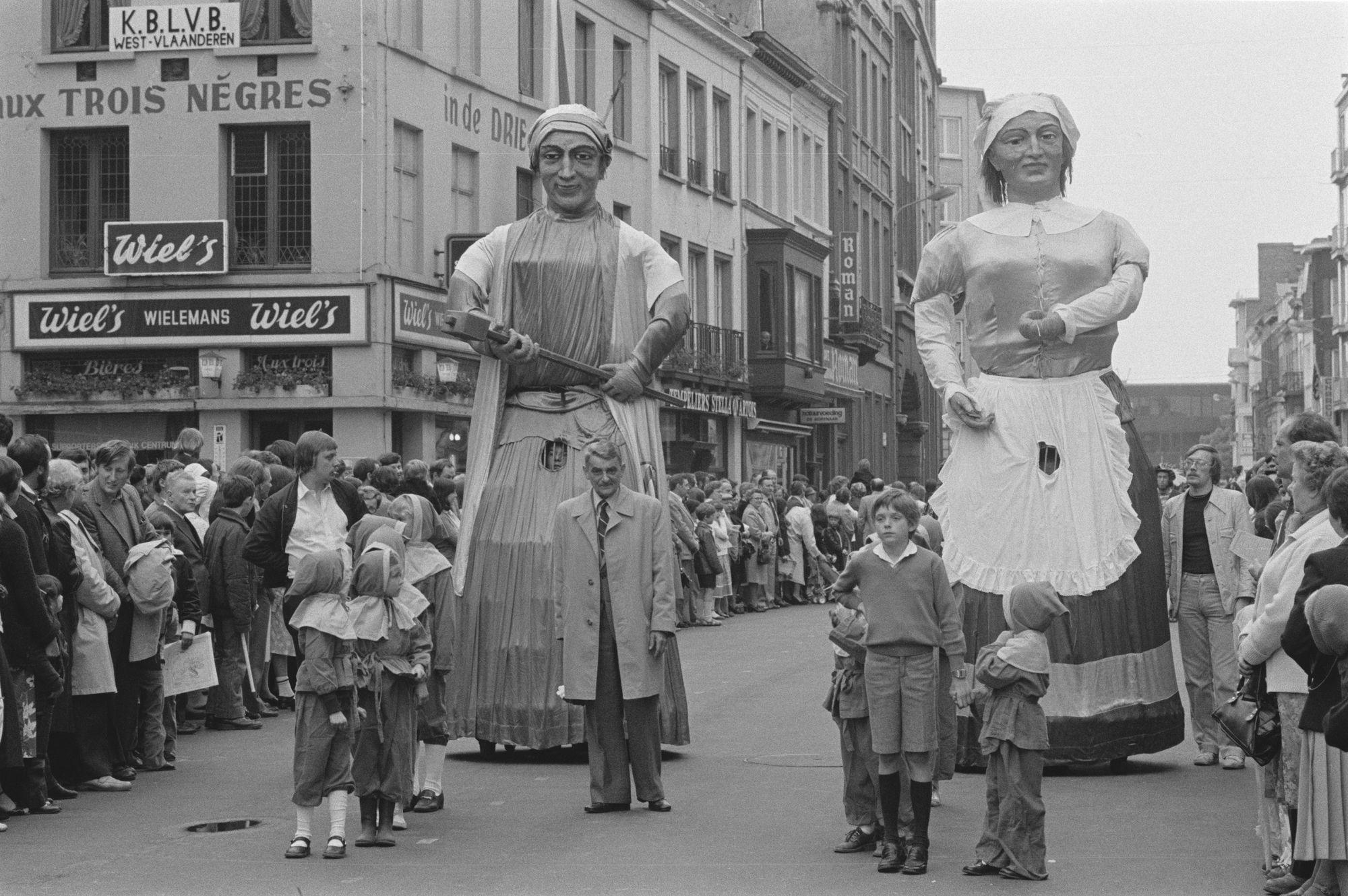 Stoet tijdens de Sinksenfeesten 1980