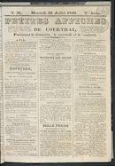 Petites Affiches De Courtrai 1840-07-29