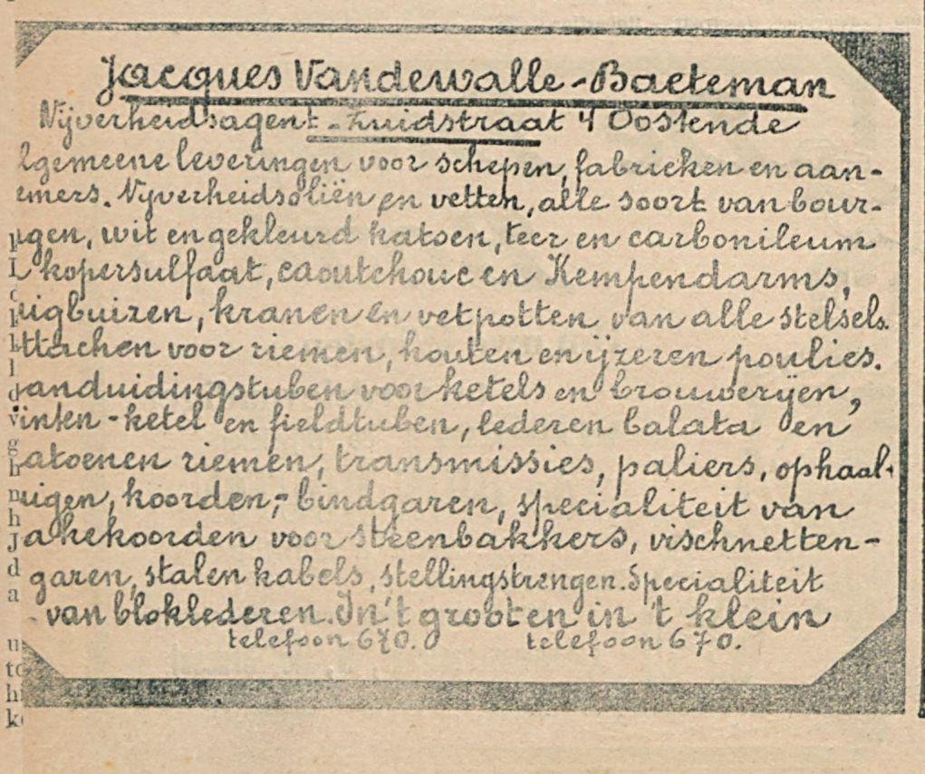 Jacques Vandewalle Backeman