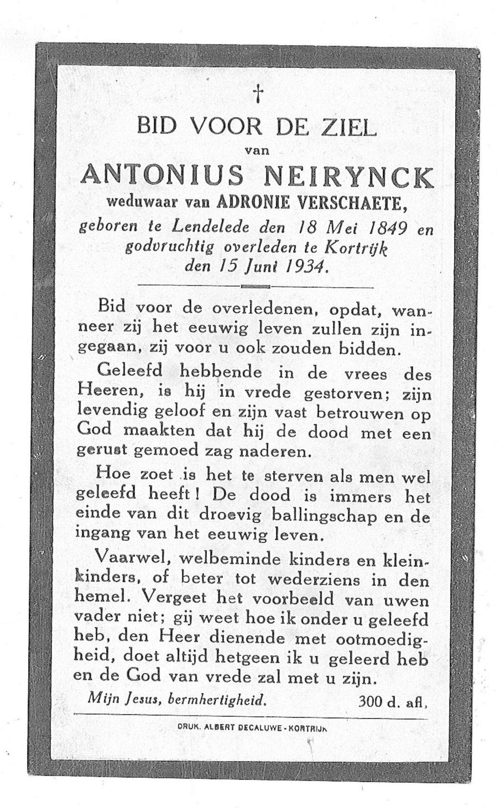 Antonius Neirynck