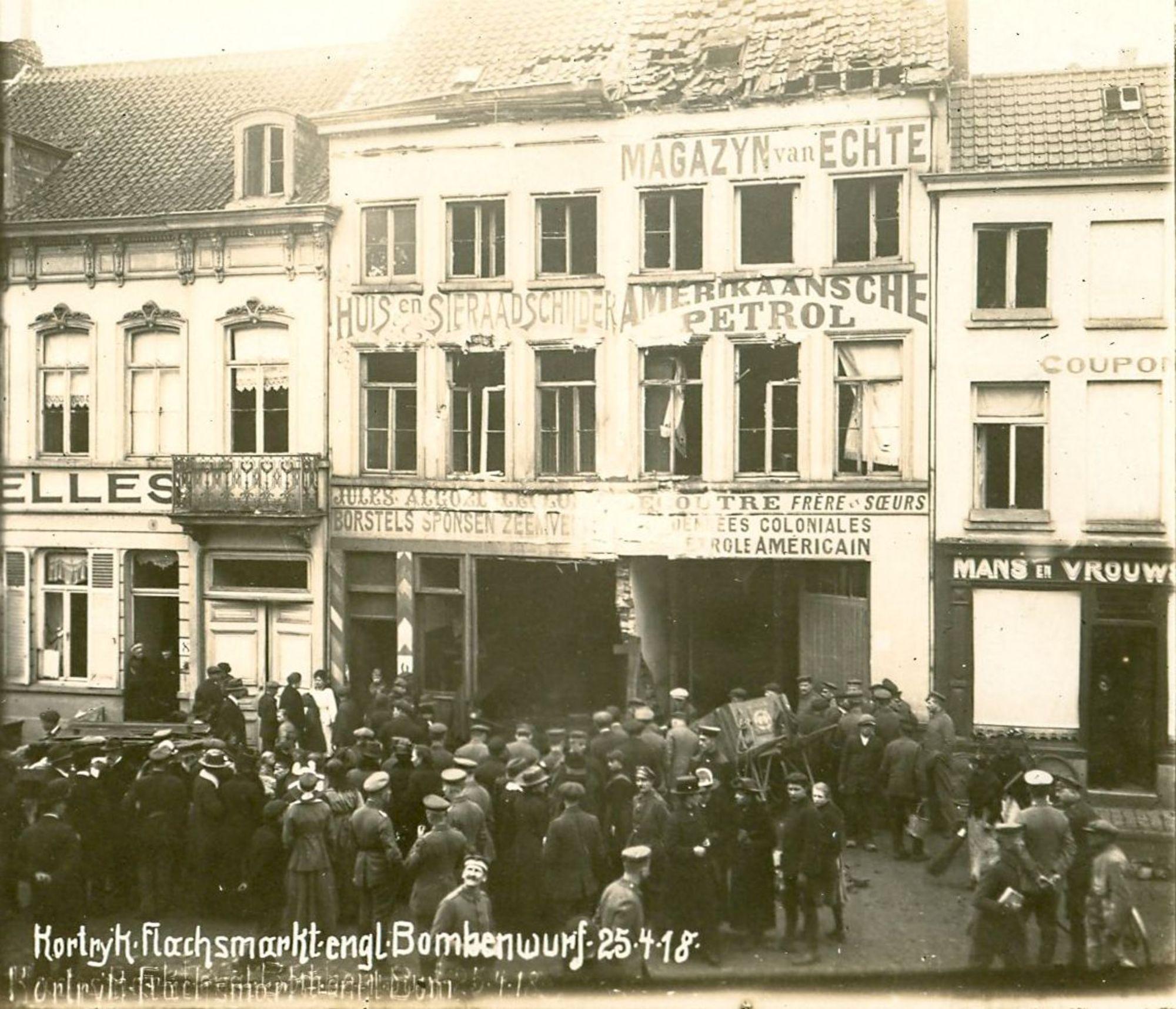 Vlasmarkt in 1918