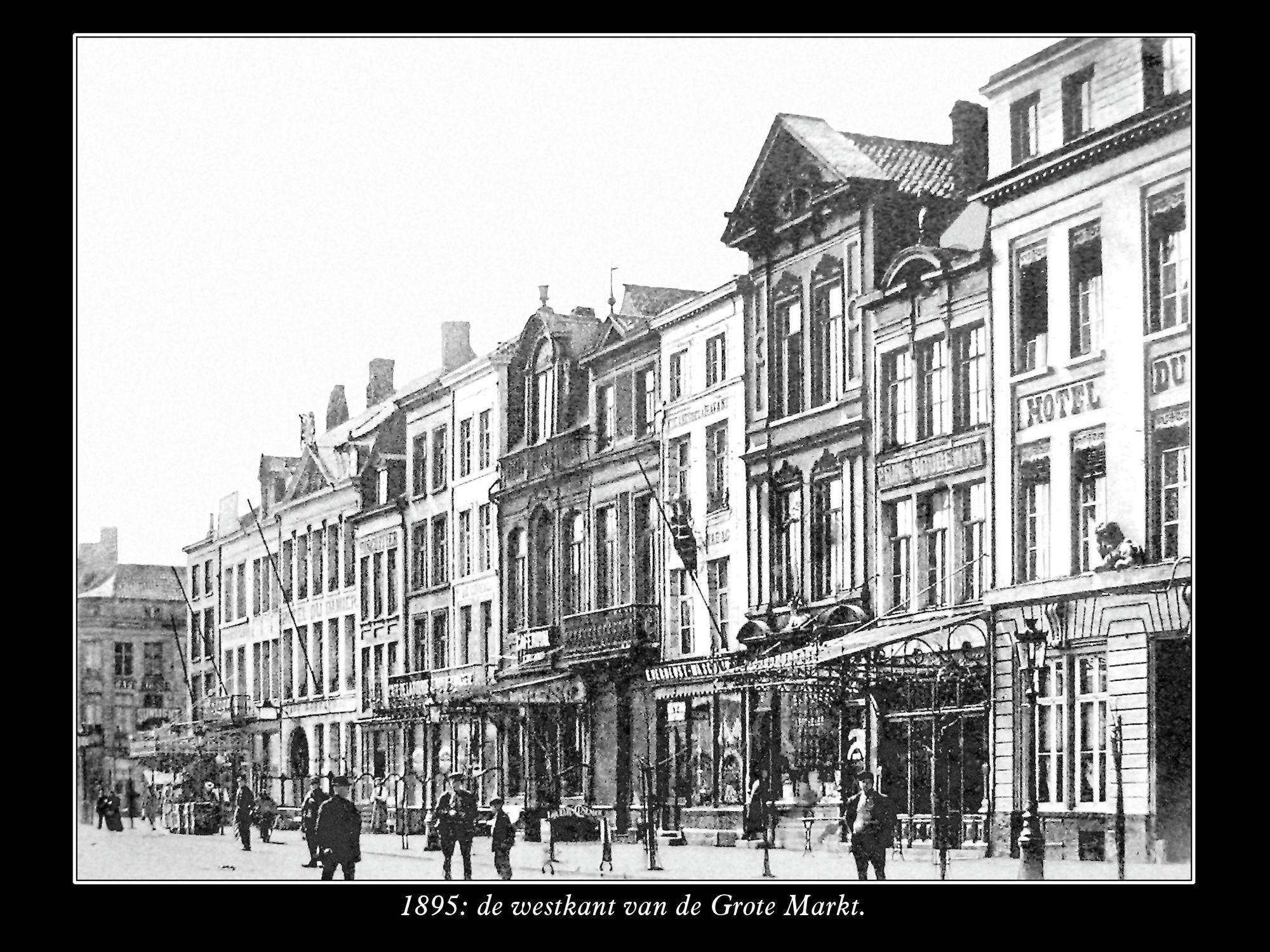 Westkant van de Grote Markt anno 1895