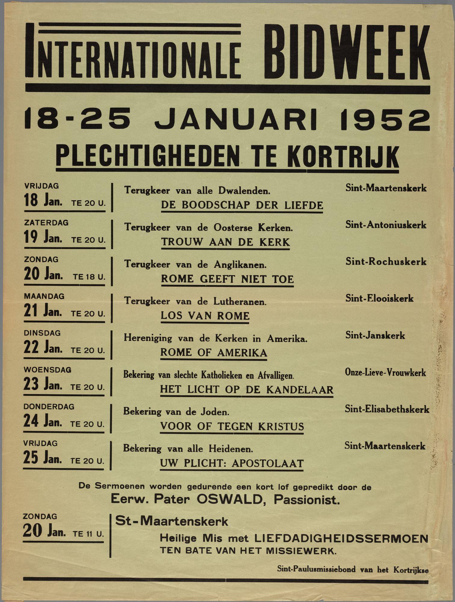 Internationale Bidweek 1952