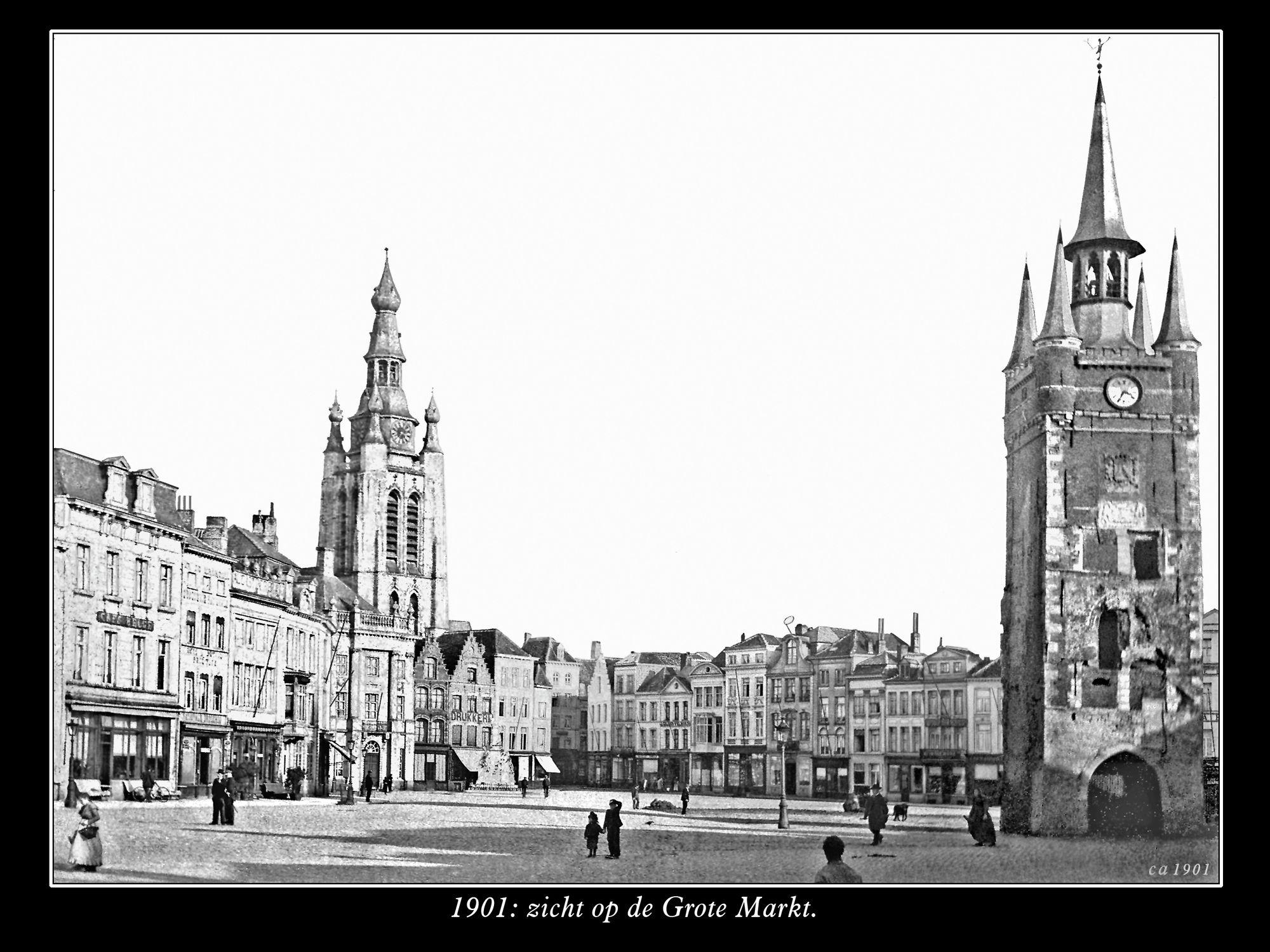 De Grote Markt anno 1901