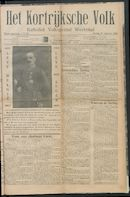 Het Kortrijksche Volk 1914-08-09 p1