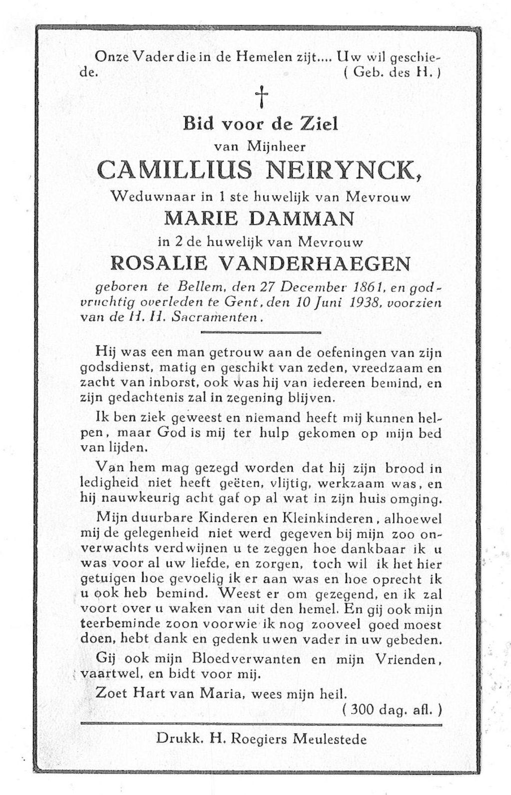 Camillius Neirynck