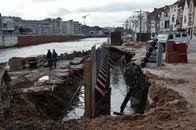 Leiewerken aan de Budabrug