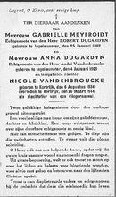 Gabrielle Meyfroidt, Anna Dugardyn, Nicole Vandenbroucke