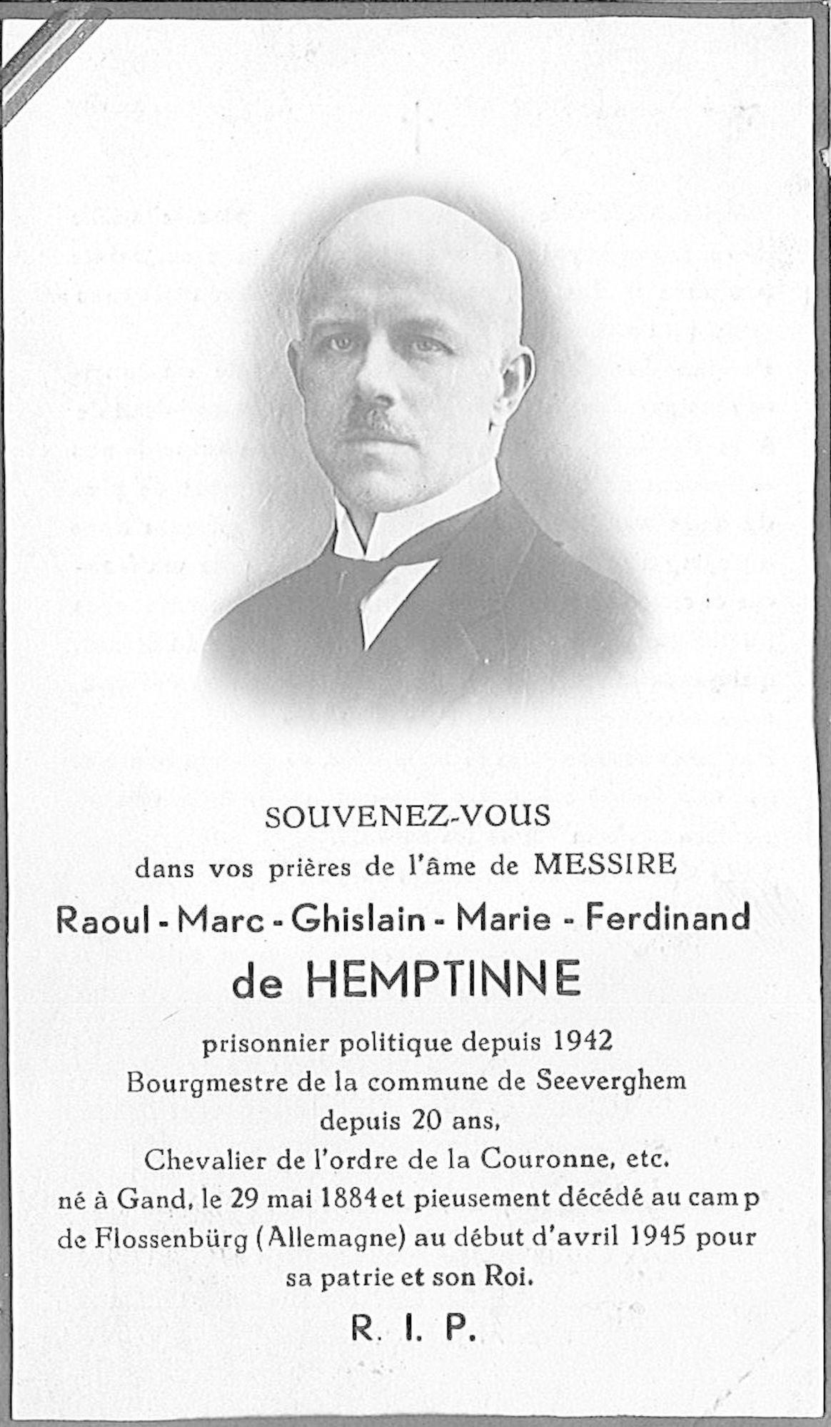 Raoul-Marc-Ghislain-Marie-Ferdinand de Hemptinne