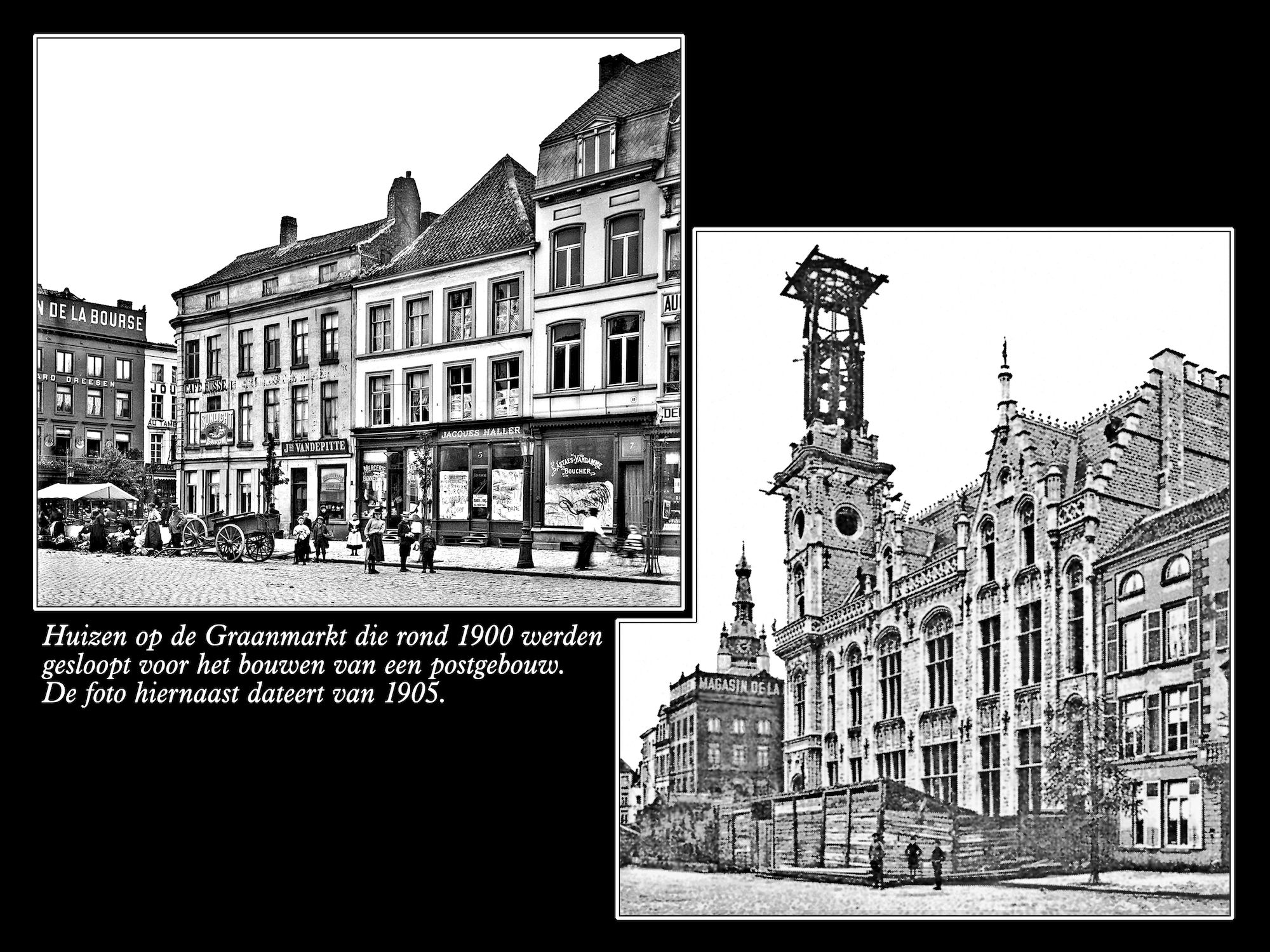 Graanmarkt ca 1900 en 1905