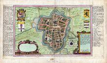 Westflandrica - stadsplan van Ieper