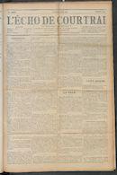 L'echo De Courtrai 1910-08-25