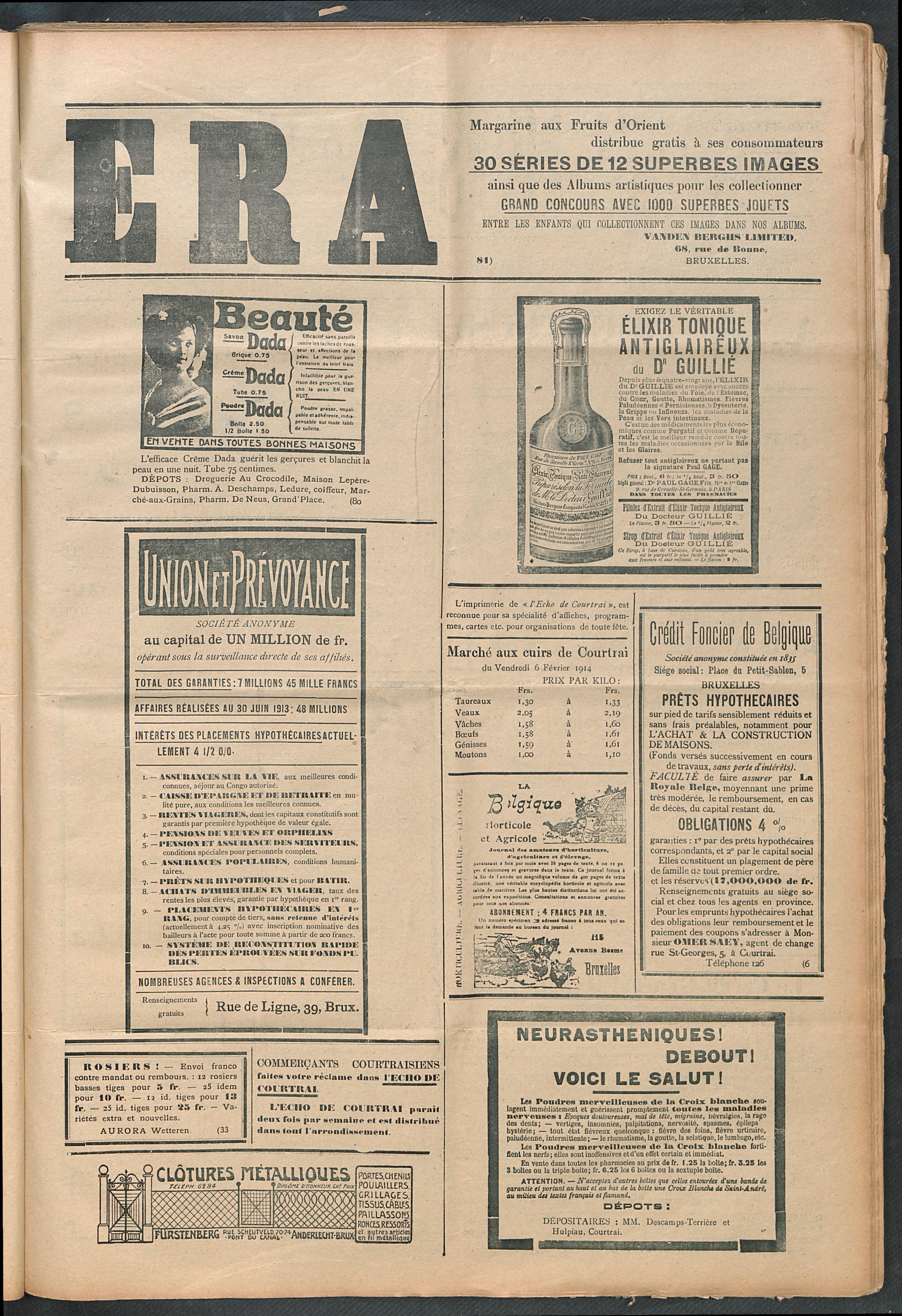 L'echo De Courtrai 1914-02-08 p5