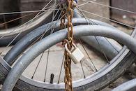 Oud fietsslot