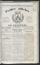 Petites Affiches De Courtrai 1837-08-06