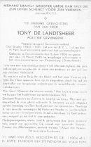 Tony De landtsheer