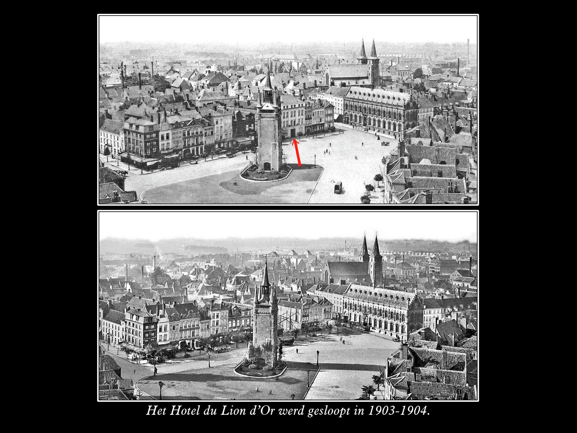 Sloop van hotel du Lion D'or in 1903-04